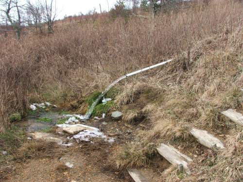 Groundwater-Spring along AT in Washington Co., VA, Dec14 08
