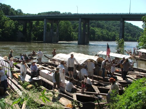 Boats and crews 2 Batteau Fest Jun15 2013
