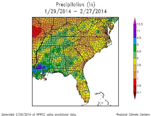 Precip monthly Feb 2014