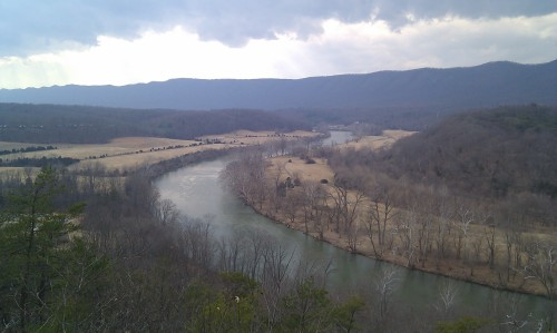 Shenandoah River Guest Park Cullers Overlook Cold Front Clouds Mar 12 2014 5 pm