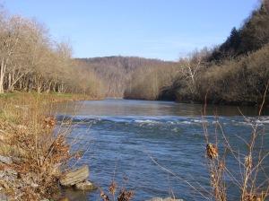 Maury River from Ben Salem Wayside RT 60 Nov26 2006