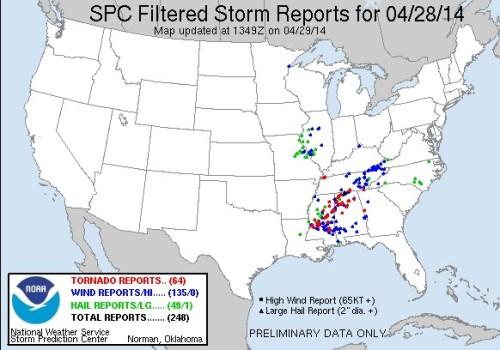 Storm report April 28