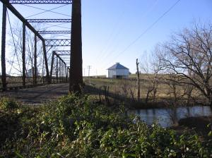 Barn and Bridge over Middle River Mt Meridian Dec16 09
