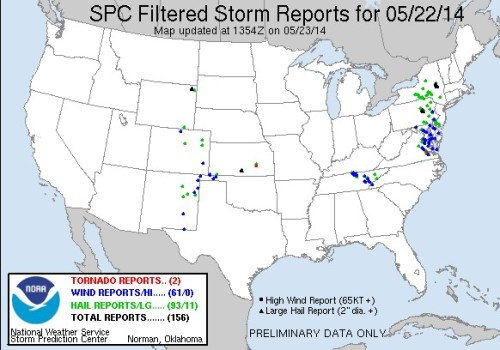 Storm Reports May 22