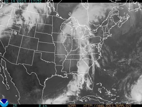 NOAA Satellite cold front and TS Gonzalo Oct14 2014 215pm