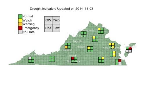 Va Drought Nov 3