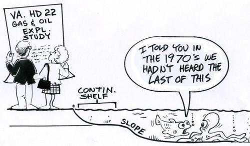 Cartoon offshore energy