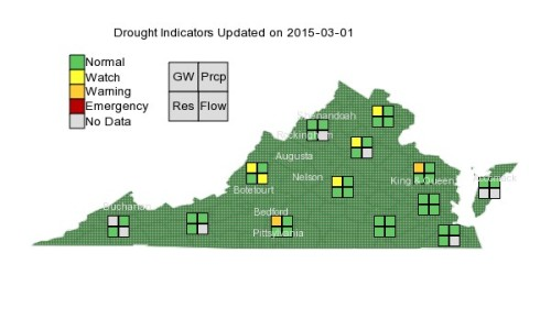 Drought in VA Mar 1 2015