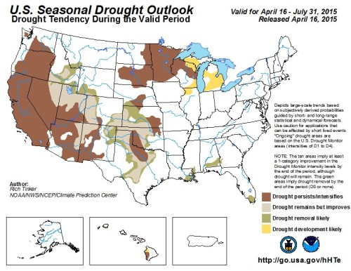 Drought US outlook as of May 1
