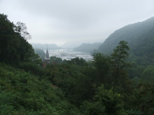 Potomac-Shenandoah from Jefferson Rock in Harpers Ferry Aug14 08
