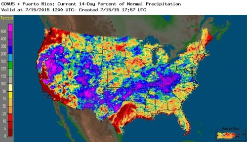 Precip perc US July 15