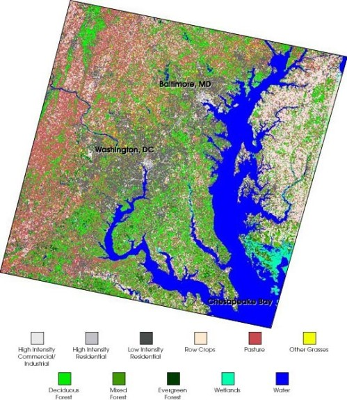 Chesapeake Bay landsat