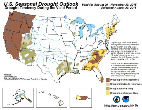 Drought Outlook US Aug