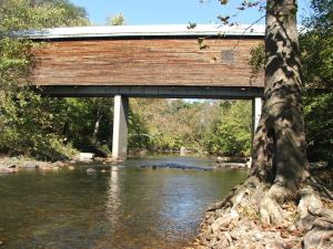Covered Bridge North Fork Shenandoah River Meems Bottom Oct13 2012