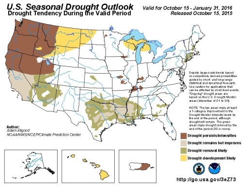 Drought Outlook US Oct 15