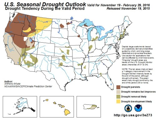 Drought US Outlook Nov19