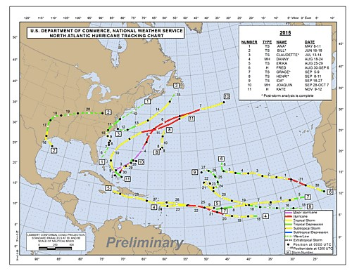 Tropical Storms 15 map