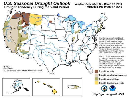 Drought outlook map avail as of 1-1-16