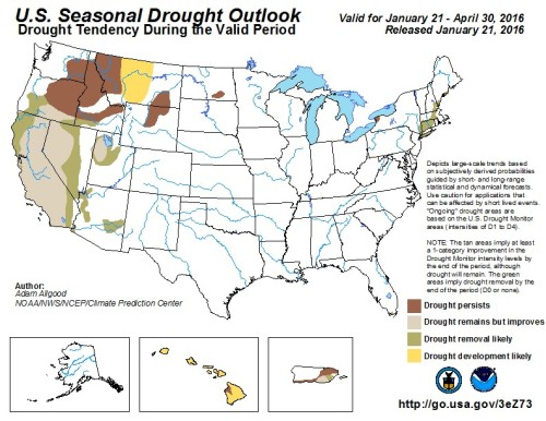 Drought outlook nationwide