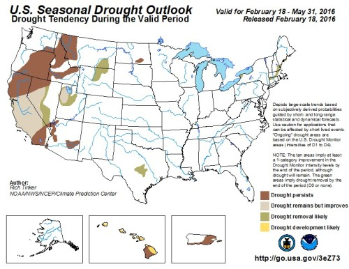 Drought outlook Feb18