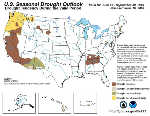 Drought Outlook US July 1