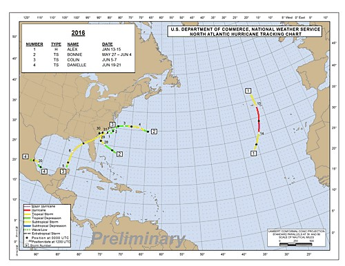 Tropical Storms map July