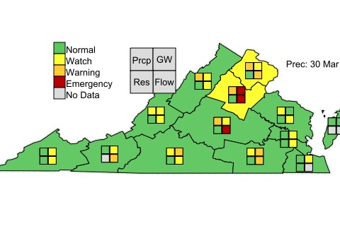 Va Drought status Mar30