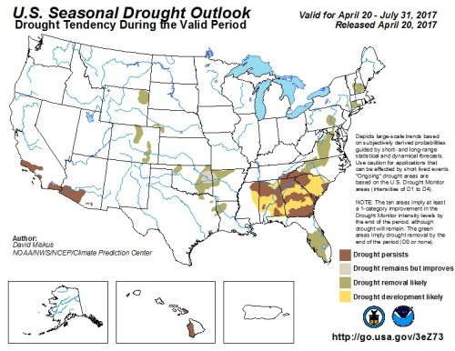 Drought Outlook US Apr20