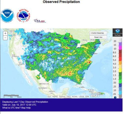 Precipitation US Jul18