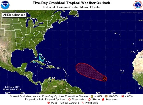 tropical outlook 5 day