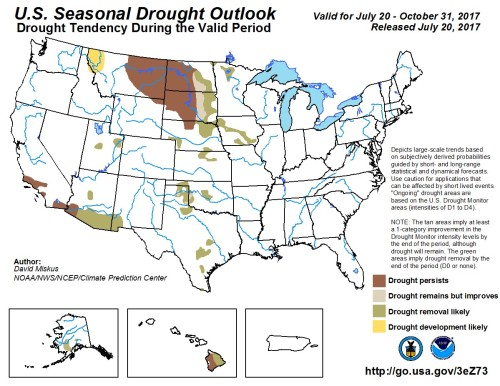 Drought outlook August