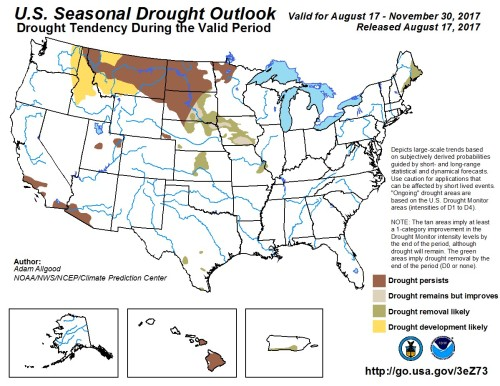 Drought outlook Aug31