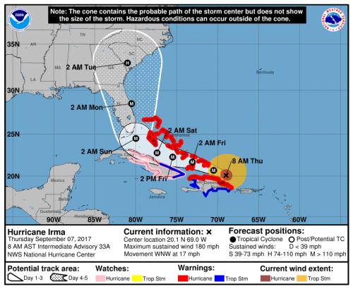 Irma cone Sept 7