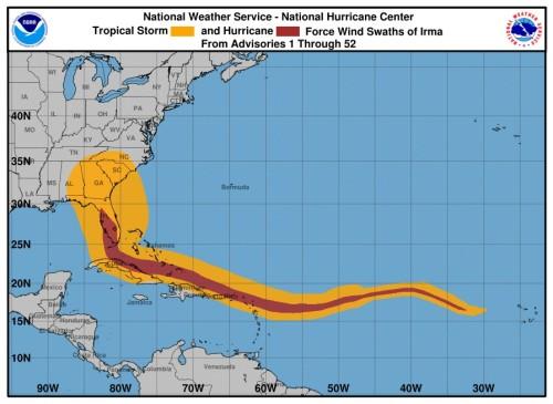 Irma winds