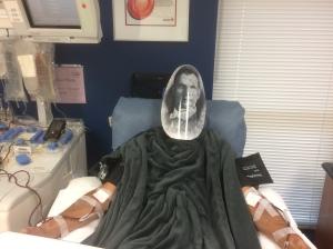 392 Image 3 Dracula gives back Raflo at platelets donation Oct29 2017 photo by nurse Jacob