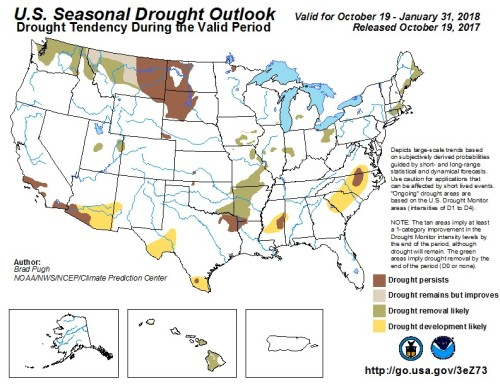 Drought Outlook map October
