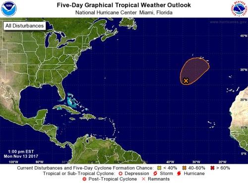 Tropical storms 5 day Nov13