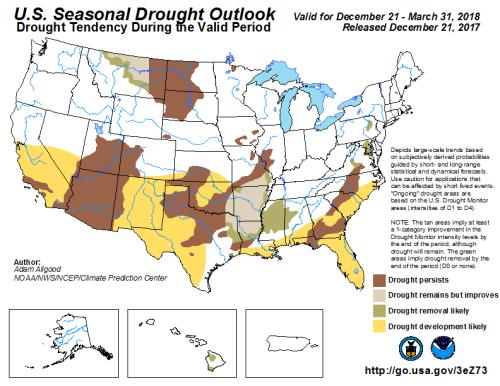 Drought Outlook US Dec
