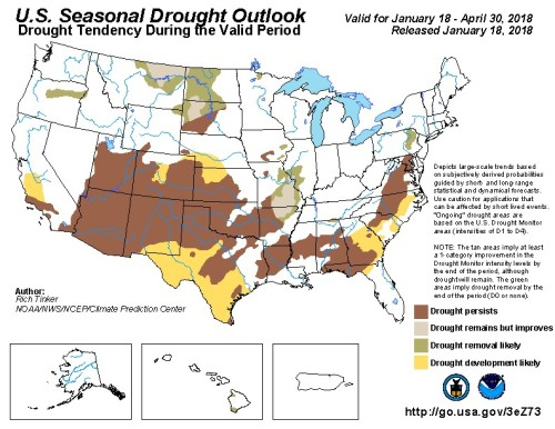 Drought US Outlook Jan18