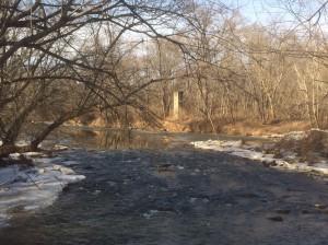 Feb2018 GAGE Goose Creek nr Leesburg along Watson Road off Evergreen Mill Rd Jan20 2018