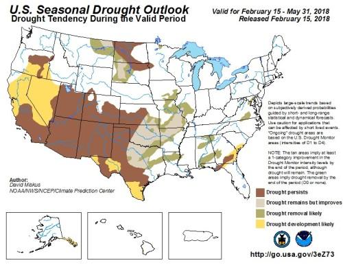 Drought outlook Feb15