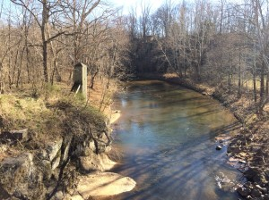 Gage Mar2018 Rockfish River near Greenfield on Rt 634 Adial Road Nelson County Mar3 2018