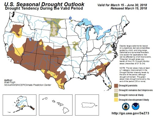 Drought outlook Mar15