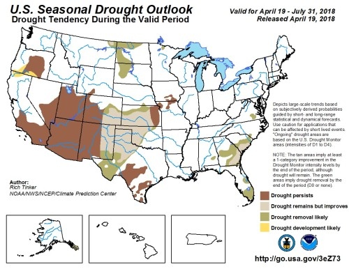 Drought Outlook US Apr15