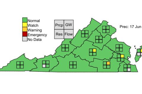 Drought Map Va June 17 2018