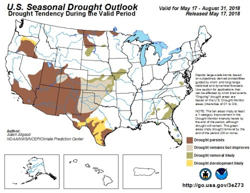 Drought outlook May 17