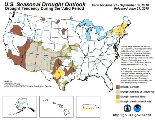 Drought outlook June 30