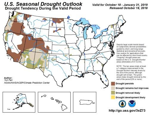 Drought outlook Nov1