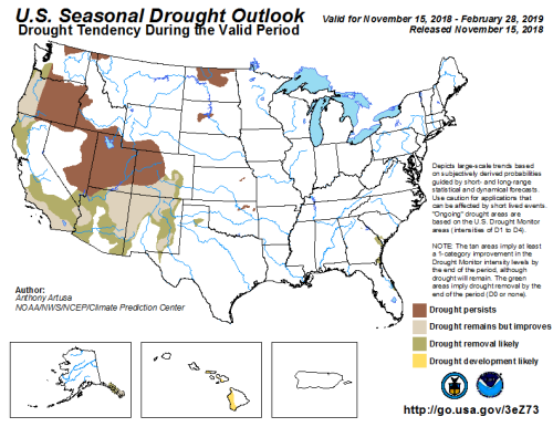 Drought Outlook Dec 1