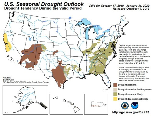 Drought Outlook US Nov 1